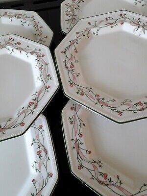 JOHNSON BROTHERS ETERNAL BEAU DINNER PLATES X 5- Excellent condition