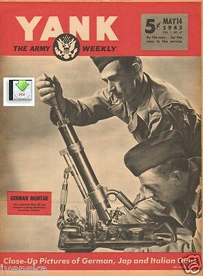 CD File 2 YANK Issues May 1943 USA Ed. Africa Enemy Weapons Compared - PDF /CD