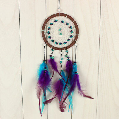 Dream Catcher with Feathers Wall Hanging Ornament Net Decor Stone Decor Gift NEW