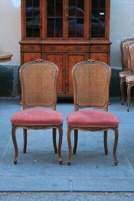 Pair Of Chairs Of First Half Of The '900, Wood Walnut / Chairs / Couple Chairs