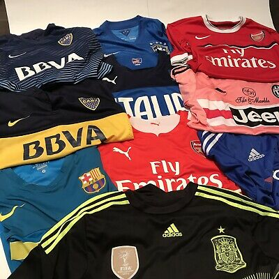 newest collection c3d2c 06399  Lot Of 10  Arsenal FC CABJ FCB Chelsea Juventus Jersey Nike Puma Adidas  Large