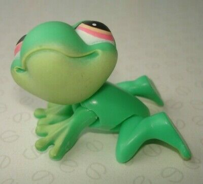 Hasbro Littlest Pet Shop #236 Green Frog Figure with Moveable Back Legs