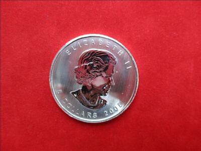 Canada 5$ Dollars de 2008 Maple Leaf 1 Once Once 999/1000 Argent Ag