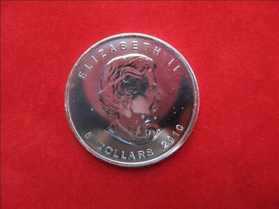 Canada 5$ Dollars de 2010 Maple Leaf 1 Once Once 999/1000 Argent Ag