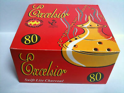 Full Box 80 Disc 8Rol Shisha Hookah Charcoal Bakhoor Incense Burner Coal Tablets
