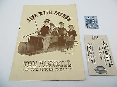 Vintage 1943 Broadway Playbill - Empire Theatre - Life With Father - NYC