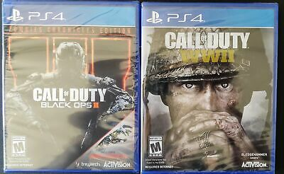 NEW CALL OF Duty Black Ops Iii 3 Zombies + Wwii World War 2 Ps4 Playstation  4