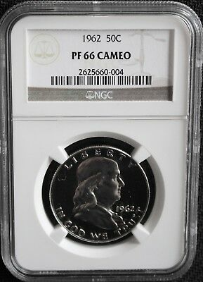 1962 Franklin Silver Half Dollar Graded PF 66 Cameo by NGC