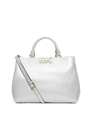 eb98d84d5daaa9 MICHAEL KORS WHITE Florence Large Leather Satchel Purse - $175.00 ...