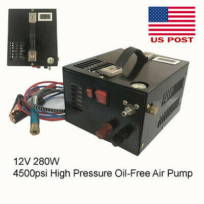 4500psi Paintball HPA Tank Filling High Pressure Oil-Free Air Pump Portable USPS