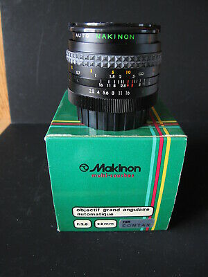 Makinon 28mm 2.8 lens for Contax yashica mount new in box new old stock
