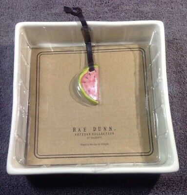 NEW  Rae Dunn Artisan Collection by Magenta Watermelon Napkin Holder Pottery