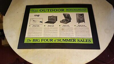 1932 RCA Victor Coin Operated Phonograph Advertising 2-65 Victrola P-31 Radio
