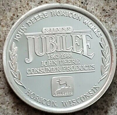 1988 1 Oz 999 Pure Silver Proof Like John Deer Jubilee Horicon Works Round Coin