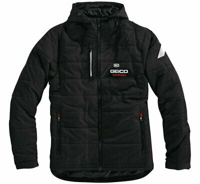 100% Men's Geico Honda Alpha Hooded Jacket XL Black