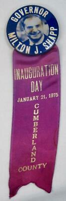 Cumberland Co PA Governor Milton J Shapp Inauguration Day Medal Ribbon Badge (O)