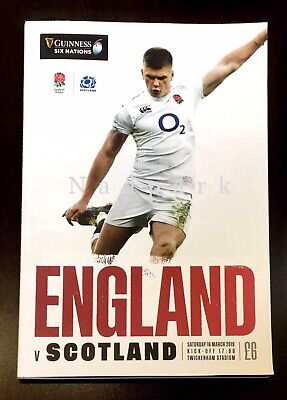 England v Scotland Guiness Six Nations Rugby Union 2019 Slight Damage Programme