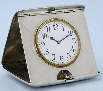 Silver Quarter Repeating Travelling Clock