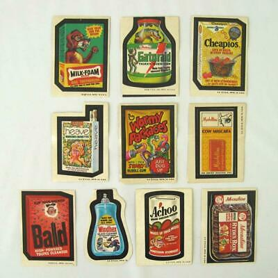 Wacky Packages Stickers Lot of 10 All Different Tan Back Vtg 3rd 4th 5th Series