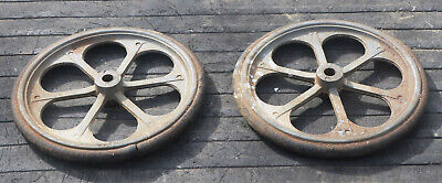 Cast Alloy Spoked Wheels With Solid Rubber Tyres