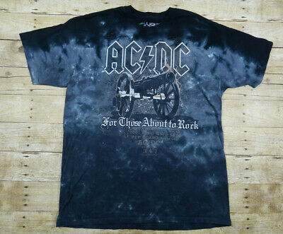 a462382ad8f Liquid Blue AC DC Shirt Black Tie Dye With Graphics Men s Tee Size XL