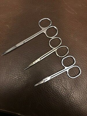 Stainless Steel Manicure Cuticle Pedicure Curved Scissors Finger Toe Nail Cutter