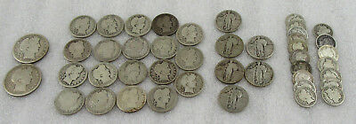 Lot of $8.95 Face Value Barber & Standing Liberty Silver Coins