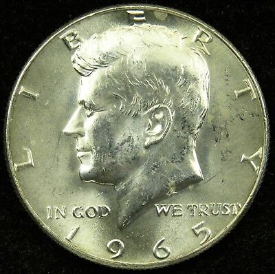 1965 Uncirculated 40% Silver Kennedy Half Dollar (B04)