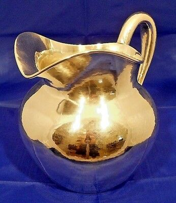 A hand wrought sterling water pitcher, The Kalo Shop, Chicago c.1940