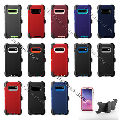 Rugged Samsung Galaxy S10 S10+ Plus S10e Case (Belt Clip Fits Otterbox Defender)