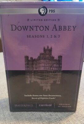 New Sealed Downton Abbey Limited Edition - Seasons 1-3 DVD Set Extra Disc Bonus