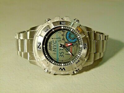 Metal Casio Fishing Gear Moon Phase Thermometer Amw 706 Ana Digi Watch 4734 Movt