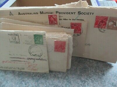 ESTATE: Australia old world commercial mail Roos, KGV, Pre dec heaps   (s801)