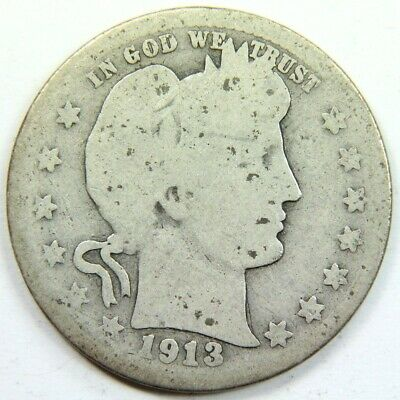 Better Date 1913 Barber Quarter 90 % Silver - Exact Coin Shown 5704