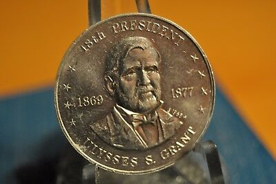 1968 Shell's Mr. President Game Token, Ulysses S. Grant Coin