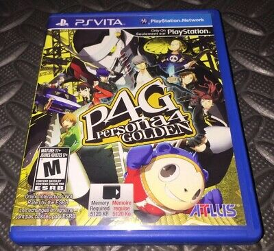PlayStation Vita Persona 4 Golden Game And Case Tested Nice! 2012