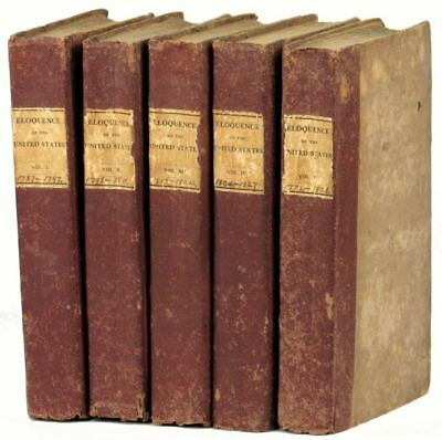 E. B. Williston / Eloquence of the United States in Five Volumes 1st ed 1827