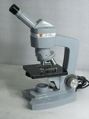 Vintage American Optical A.O. Sixty Spencer Microscope + 2 Objective + Light