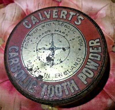 Antique Calverts Carbolic Tooth Paste Powder Tin England