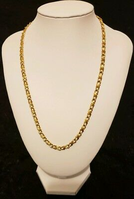 "Women's Gold Toned Kisses And Hugs XOXO Chain Necklace 9 1/2"" Long"