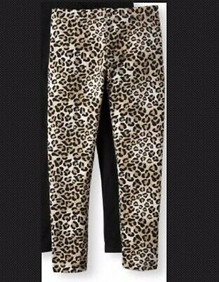 New With Tags Cute Girls Leopard print Full Length Leggings Pants Size 7-8 NWT