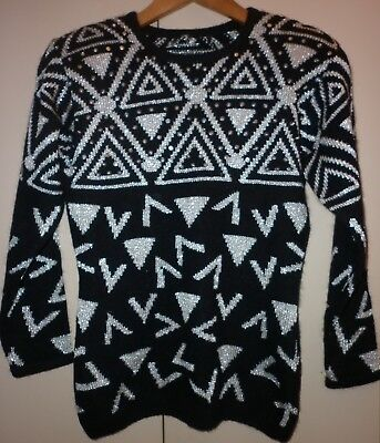 Sequin And Lurex Small Jumper  Excellent Condition