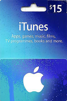 iTunes Gift Card $15 US Apple | App Store Key | American USA Code | iPhone etc..
