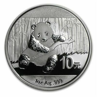 China 10 Yuan - Panda 2014 - 1 Oz 999 Silber