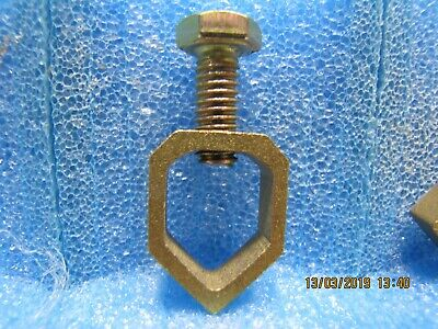 COPPER & BRASS Earthing Clamp, 5/8 Cable to Earthing Rod