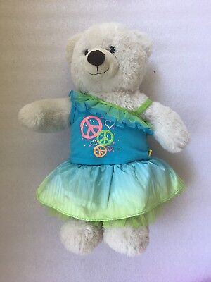 Authentic Build a Bear Party Outfit: Off Shoulder Top, Frill Skirt plus Bear