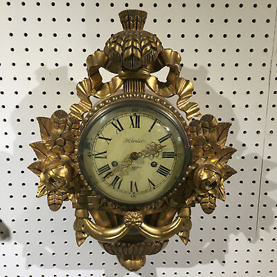 Swedish Giltwood Cartel Clock c1240