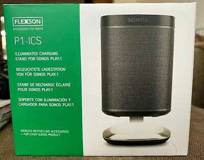 Flexson P1-ICS Illuminated Sonos Play:1 Touch Control Charging Stand Black