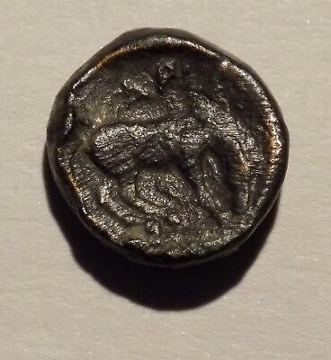 Thessaly Larissa, 400-344BC, AE 12  Nymph/Horse, nice and scarce