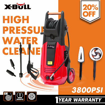 X-BULL 3800PSI High Pressure Water Cleaner Washer Electric Pump Hose Gurney
